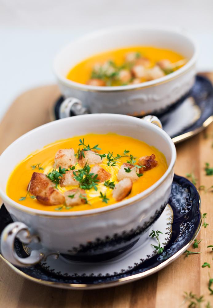 Kürbis-Ingwer-Kokos-Suppe
