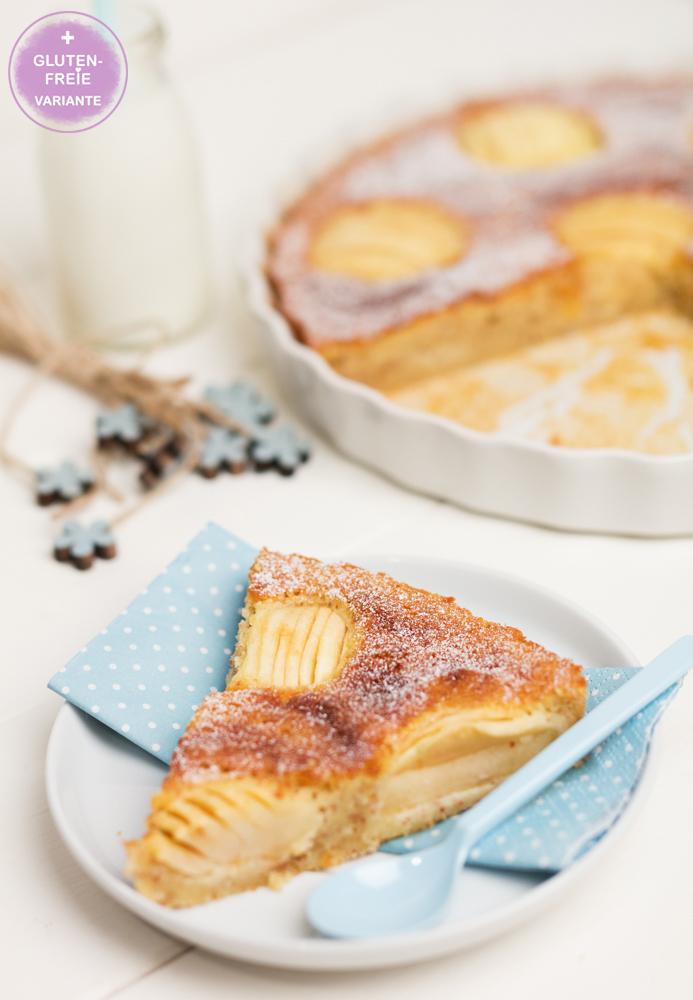 Versunkener Apfelkuchen mit Apfelmus