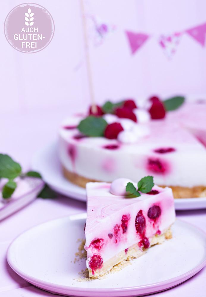 Himbeer-Joghurt-Torte mit Meringuen